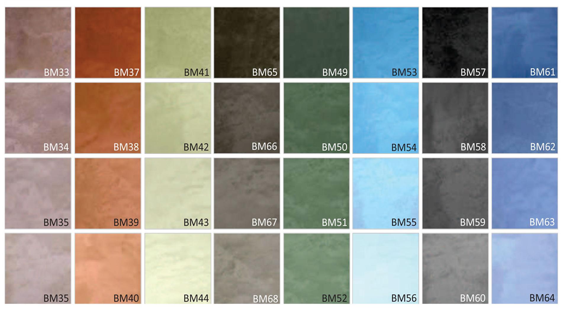 Nos coloris artalis enduits mortex for Enduit beton salle de bain