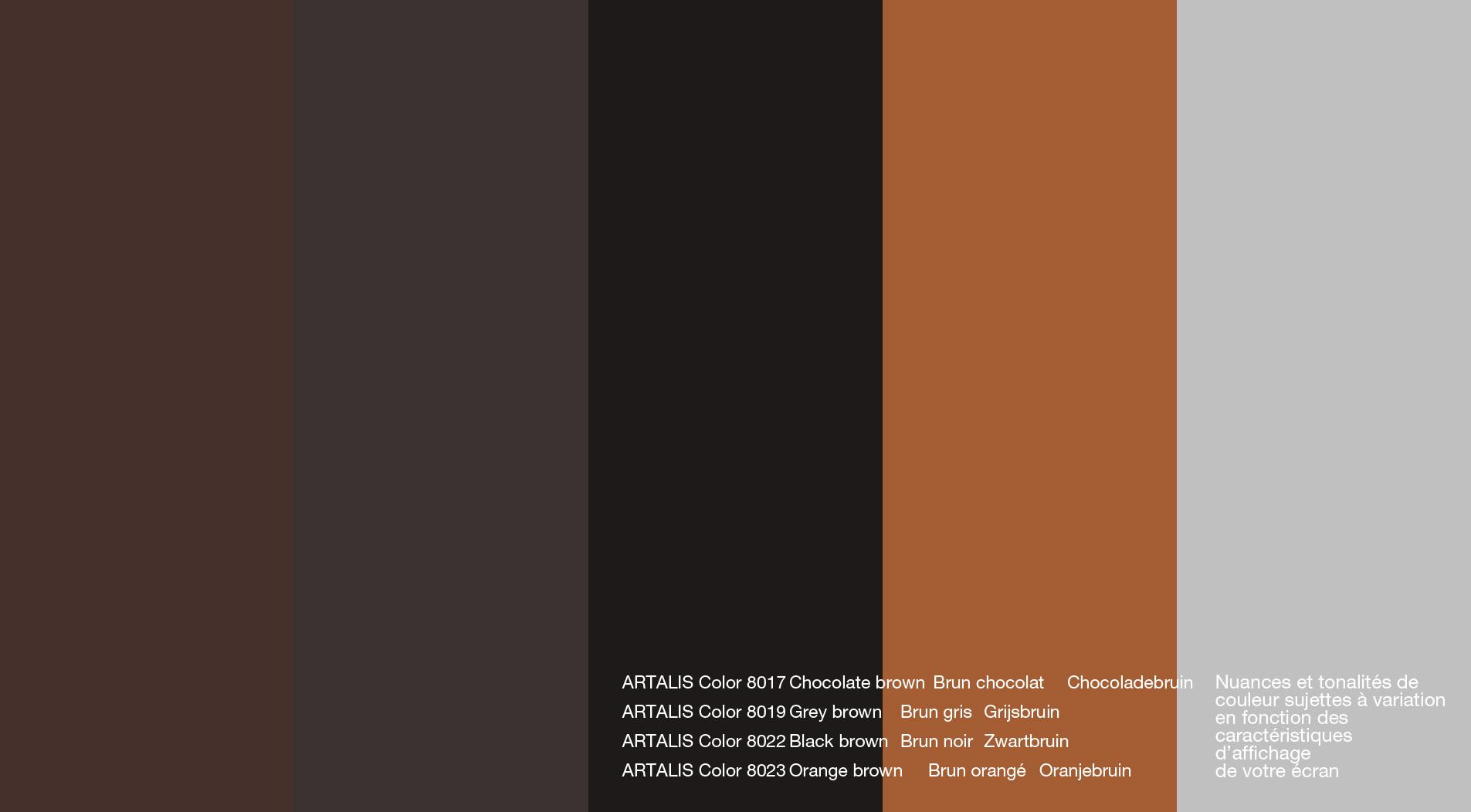 Nuancier Couleur Chocolat en ce qui concerne coloris artalis - artalis enduits mortex