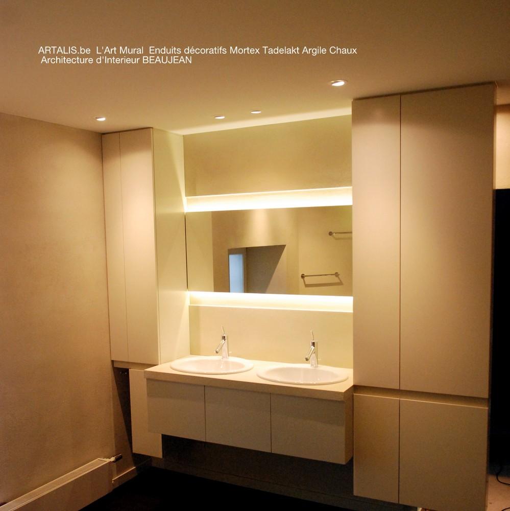 Salle de bain et douche italienne mortex artalis l 39 art for Enduit mur salle de bain