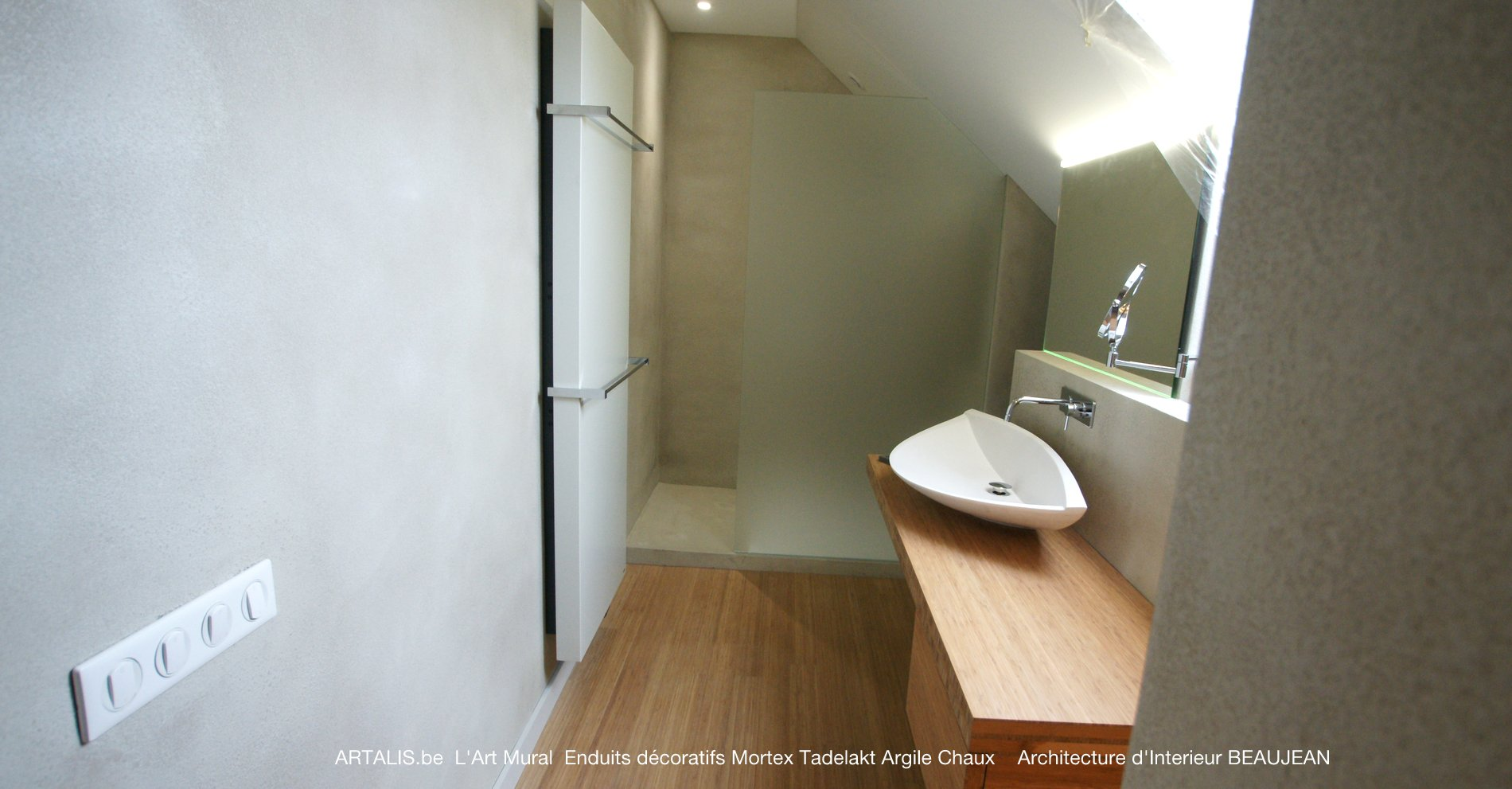 Italiaanse mortex badkamer en douche - Italiaanse badkamer ...