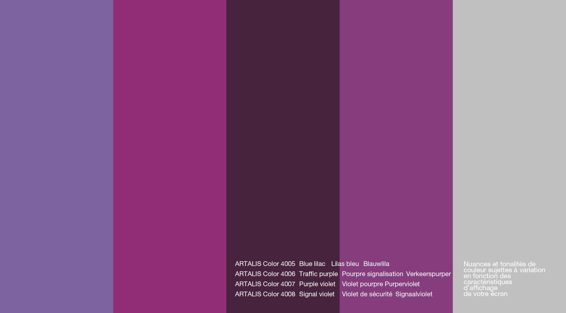 Artalis Color Chart Artalis Enduits Mortex